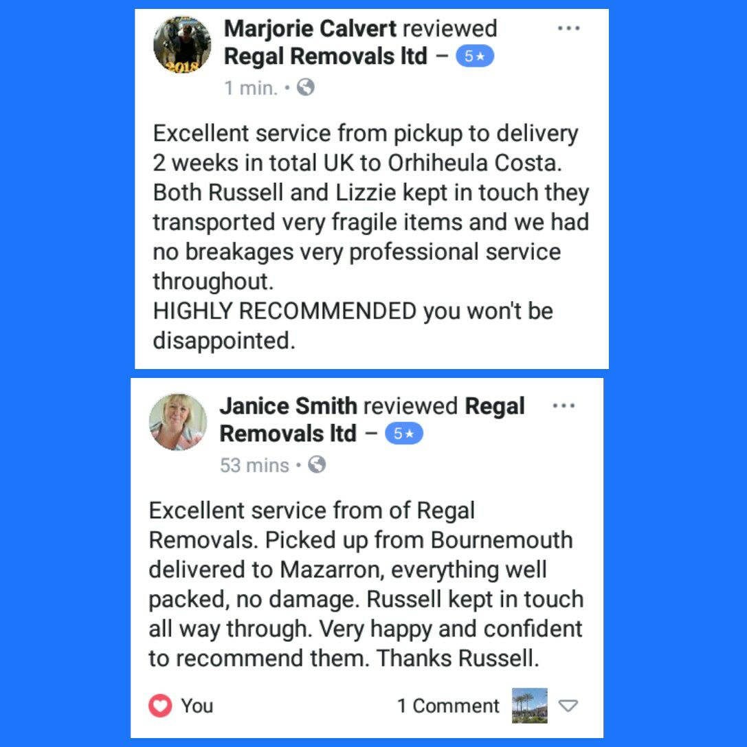 Regal Removals Ltd in Camposol: address, telephone number