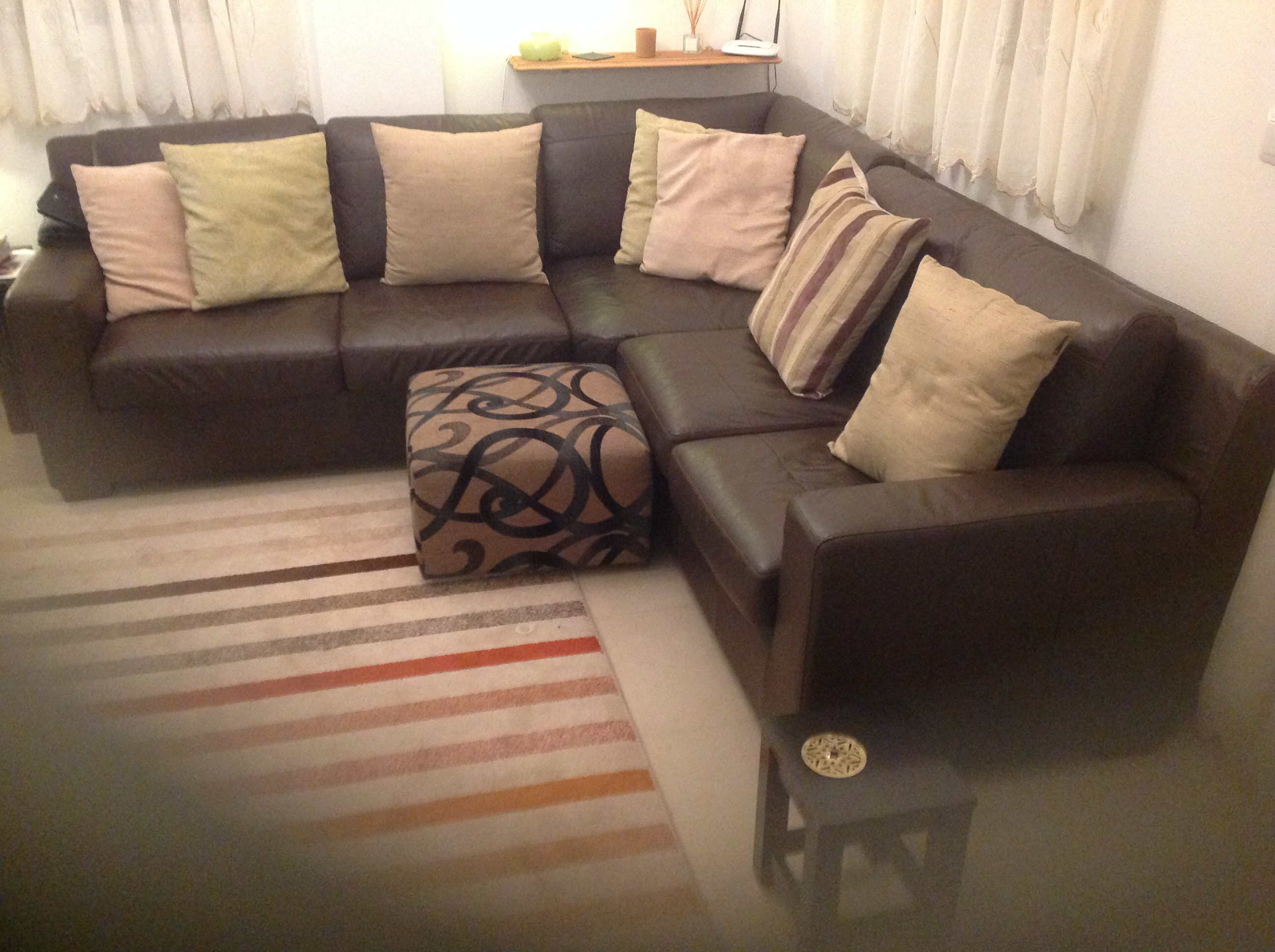 For sale: 5 seater brown leather modular corner sofa - Buy ...
