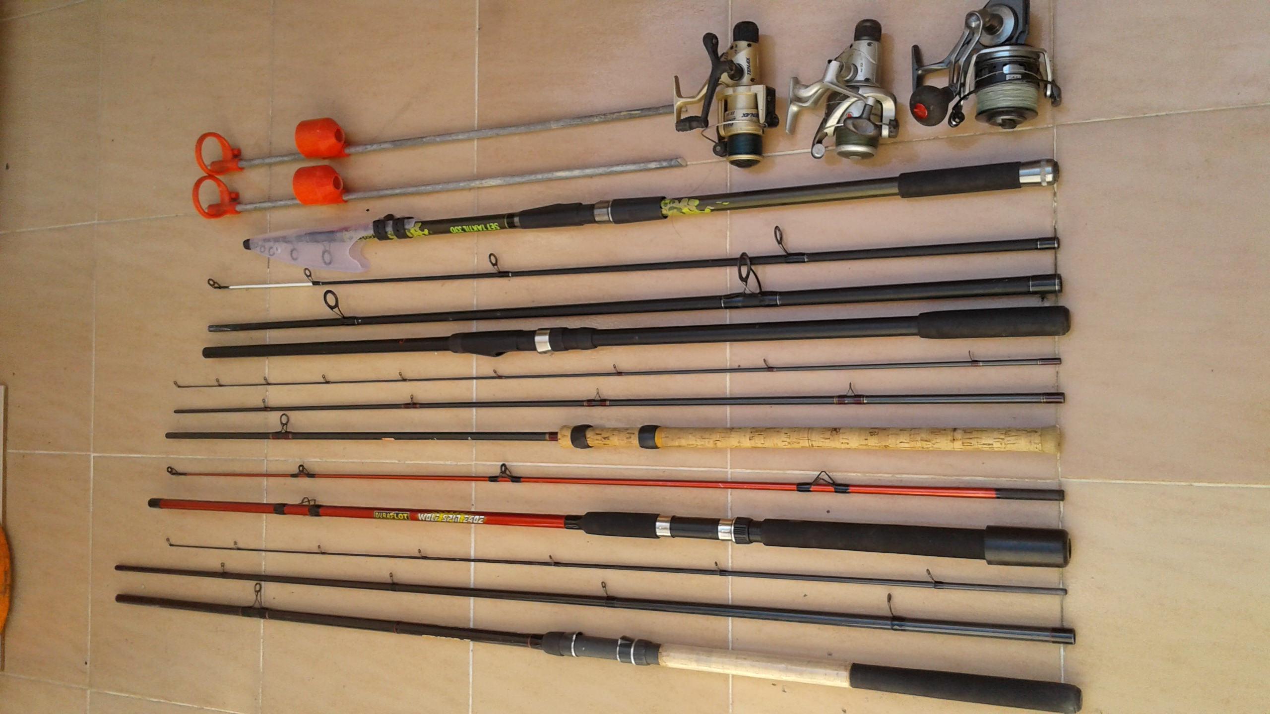 For sale: Fishing rods and reels