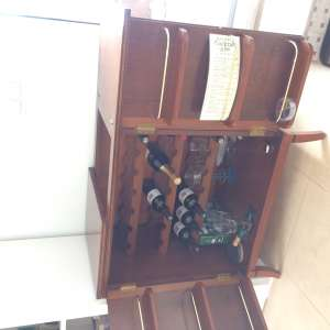 For sale: Wooden Wine Cabinet - €130