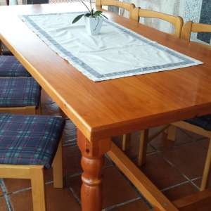 For sale: wood table and chairs