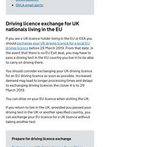 New rule Re driving licence in EU