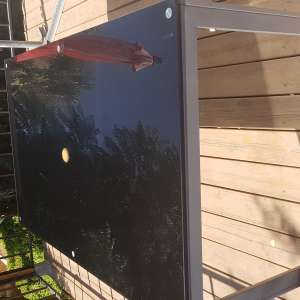 For sale: Large glass top table