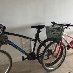 For sale: Two adult mountain bikes with extras for sale - €180