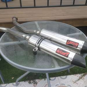 For sale: Motorcycle race exhausts - €160