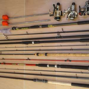 For sale: Fishing rods and reels - €100