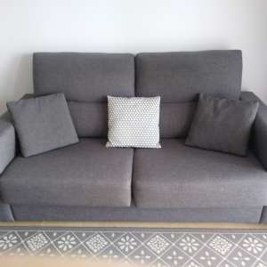 For sale: Grey 3 seater sofa bed - €150