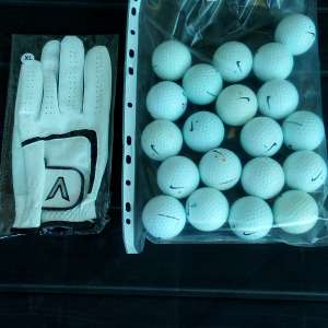 For sale: 20 Grade A Nike Golf Balls and new golf glove - €10