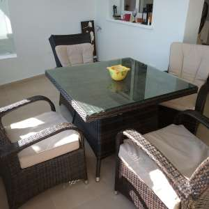 For sale: Rattan table and chairs - €150