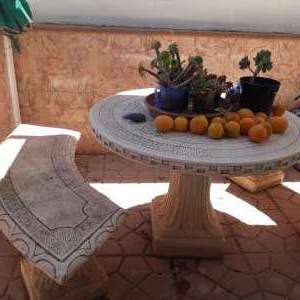 For sale: 6 - 8 seats stone decorative garden table benches - €480