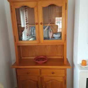 For sale: Pine Display Cabinet 210cm x 110cm x 40cm. - €50